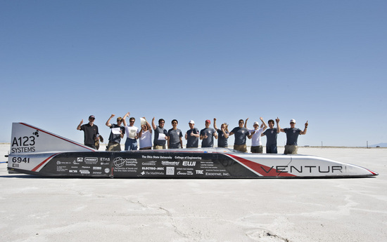 Battery Powered Electric Car Breaks the Land Speed Record 1