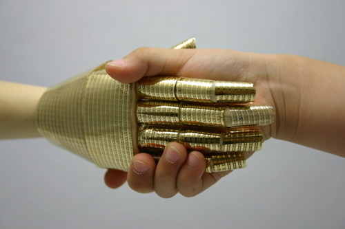 New Pressure-Sensitive Electronic Skin Gives Robots the Sense of Touch