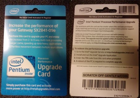 "Intel Selling $50 ""Upgrade Cards"" to Unlock CPU features 1"