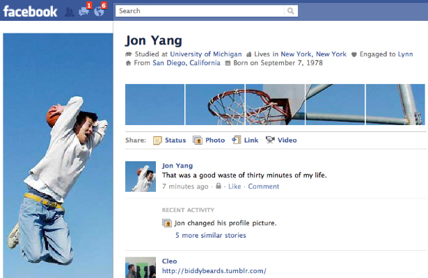 Top 20 Creative Uses of the New Facebook Profile[PHOTOS] 1
