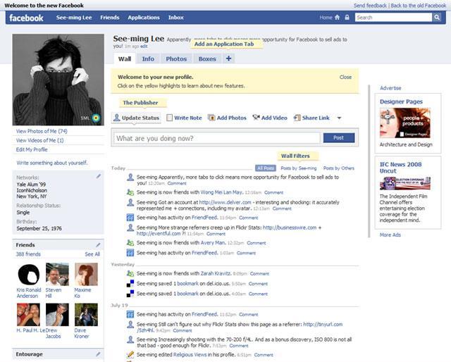 facebook, facebook profile, The Evolution Of The Facebook Profile