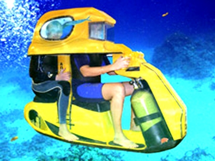 The Amazing Aqua Star Two-Seater Underwater Scooter