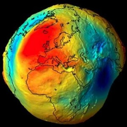 GOCE Satellite Reveals The Gravitational Field Map of Earth