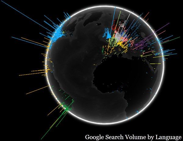 Google Search Volumes Around The Globe [VISUALIZATION]