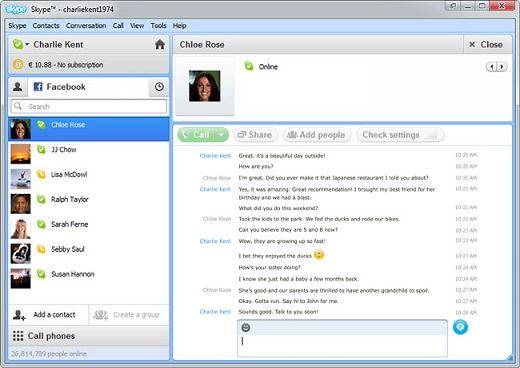 Skype Beta With New Facebook Features Released — Lets You Chat With Your Facebook Friends From Your Desktop