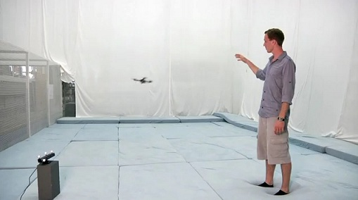 Natural Interaction With Flying Robots Using Microsoft Kinect [VIDEO]