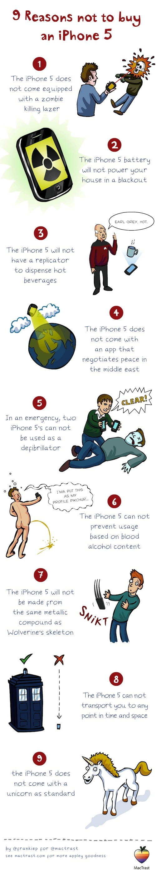 9 Reasons Not To Buy iPhone 5 [INFOGRAPHIC]