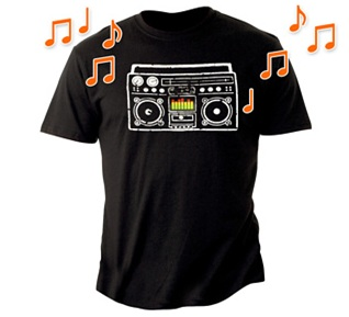 Boombox Speaker T-Shirt, top 10, top 10 lists, gadgets, gadget gifts, top 10 gadget gifts ideas, gadget ideas, best gift ideas, 10 christmas gifts