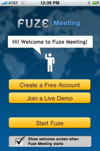 productivity apps, iphone productivity apps, iphone apps, Fuze Meeting