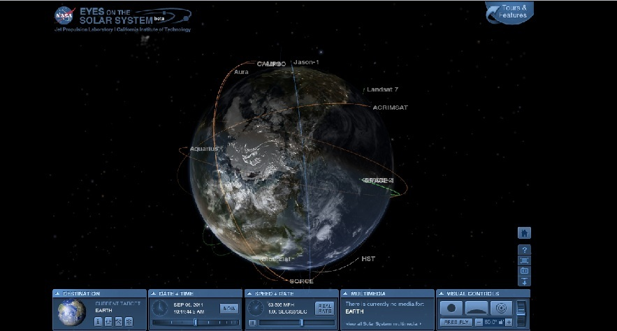 nasa, solar system, nasa web application, 3d solar system, space, Eyes on the Solar System app