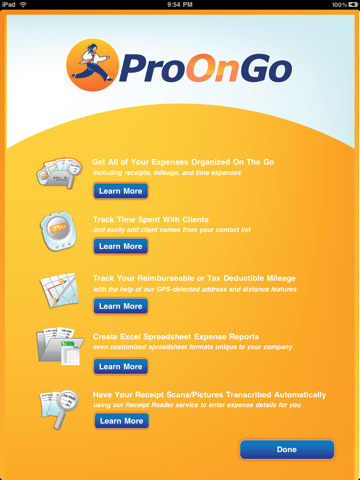 productivity apps, iphone productivity apps, iphone apps, ProOnGo Expense