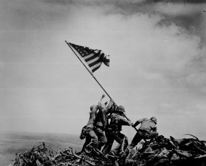 Raising the Flag on Iwo Jima By Joe Rosenthal, Joe Rosenthal, Raising the Flag on Iwo Jima