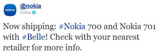 Nokia Starts Shipping 700 and 701 To Retailers