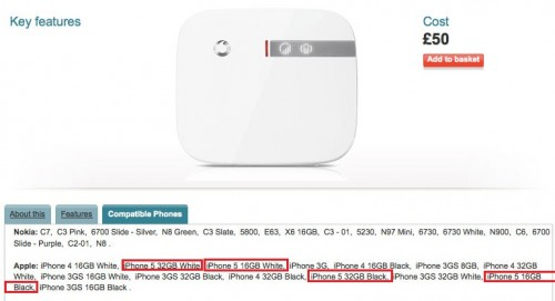 Vodafone UK Confirms iPhone 5 With 16/32GB Of Storage