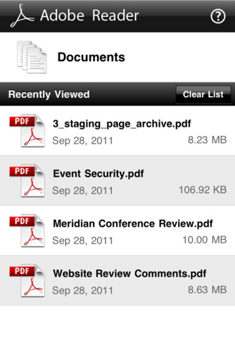Adobe Reader For iPhone, iPad And iPod Touch Now Available For Download 1