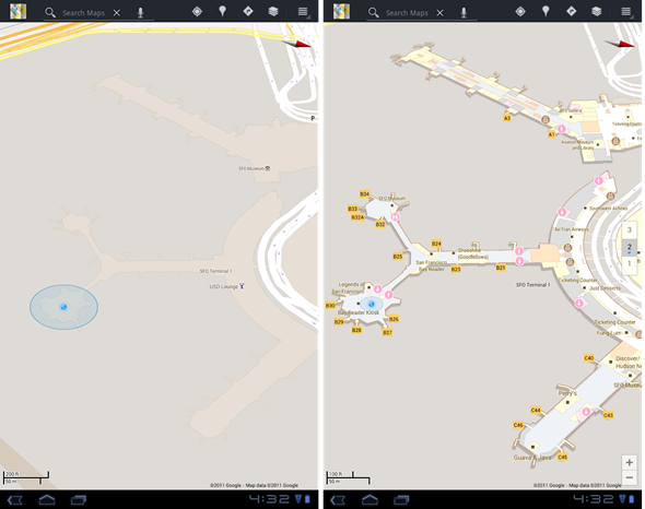 Google maps before-after