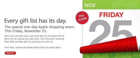 Apple Announces Black Friday Sale Across The World, Banners Appear on Apple.com