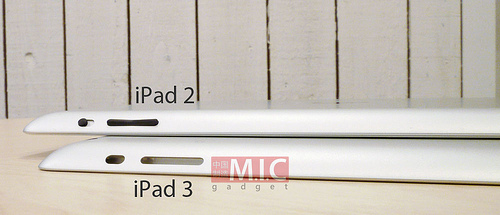 Side-By-Side Photos Of iPad 2 And iPad 3 Suggests More Thickness And Tapered Edges 1