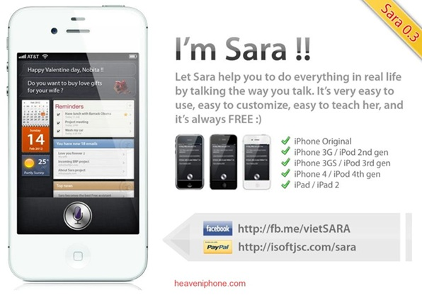 Meet SARA: The Siri Clone That Works On All iOS Devices — Download Now 1
