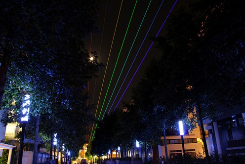 Rainbow At Night, Powerful Lasers Brighten Up The Sky [PHOTOS]
