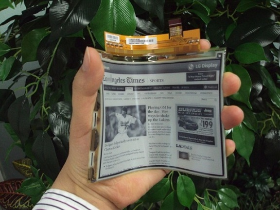 LG's Flexible E-Paper Display All Set To Launch In April