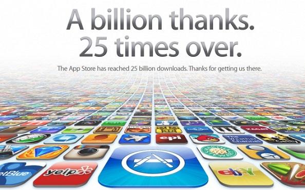apple app store 25 billion downloads,app store 25 billion downloads,app store downloads, app store apps,25 billion apps download
