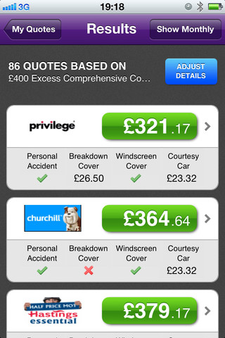 MoneySupermarket Car Insurance App For iPhone, iPod Touch and iPad [Review] 1