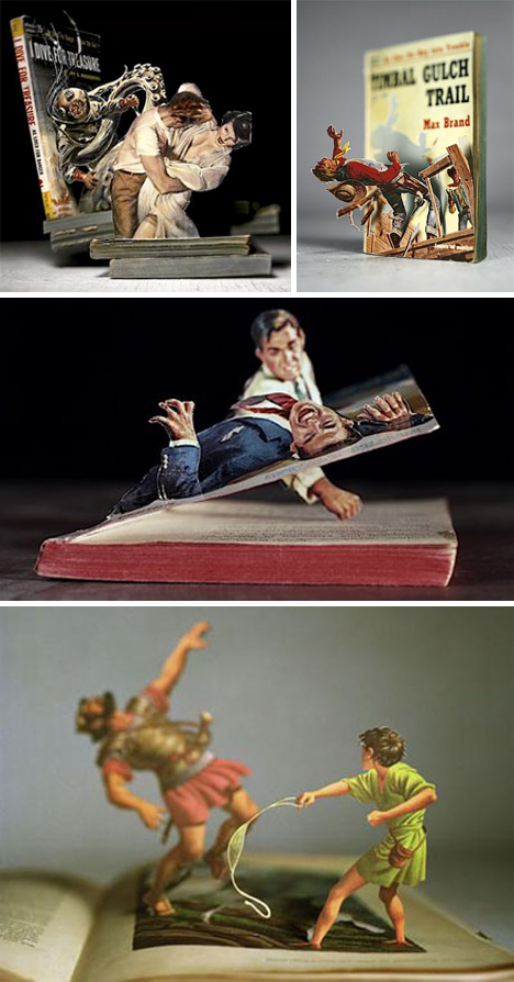 Amazing Book Sculptures — Can These Sculptures Bring Your Interest Back To Paper Books?  1