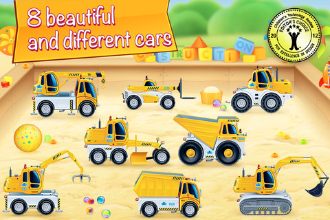 Cars In Sandbox: A Learning Game For Kids [App Review] 1