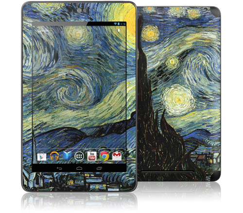 Starry Night Case, Hard Cover Case, GelaSkin, nexus 7 cases, nexus 7 GelaSkin