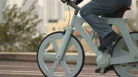 Cardboard Bike, Bicycle Built Of Cardboard, Cardboard bicycle