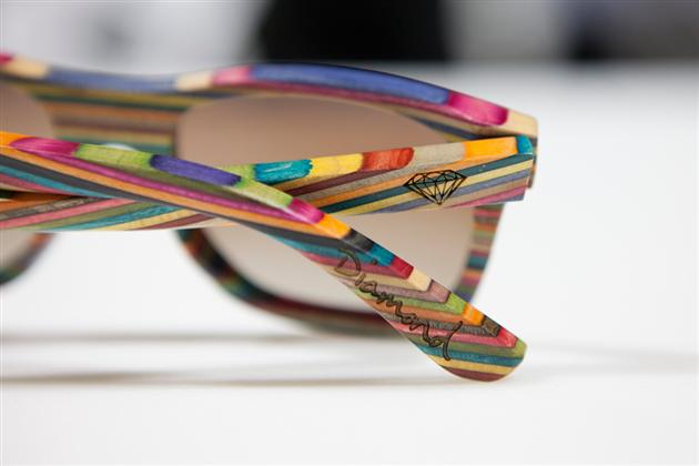 Sunglasses Made From Recycled Skateboards, Recycled Skateboard sunglasses, sunglasses skateboard