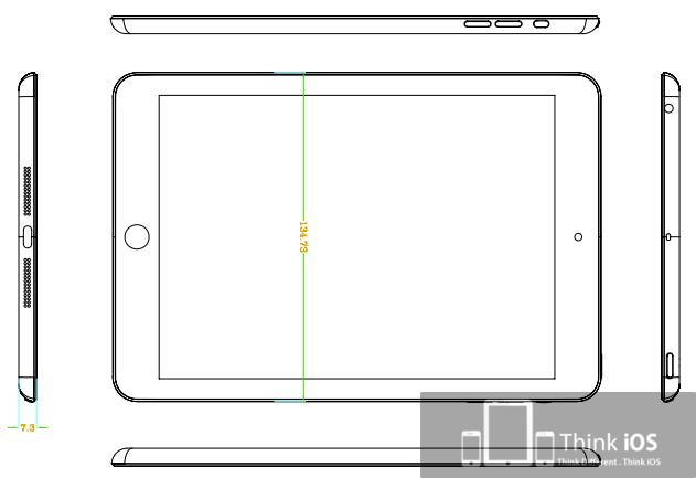 iPad Mini, iPad Mini Schematics, ipad mini, apple ipad mini, ipad mini design, ipad mini shape