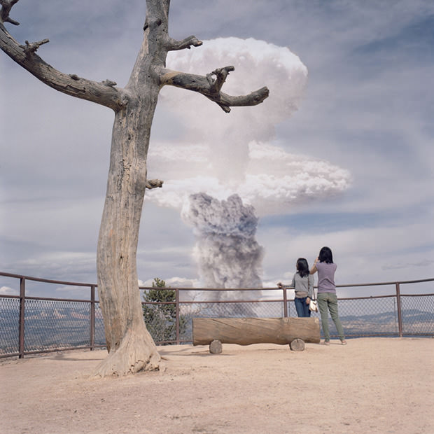 Atomic Overlook,Atomic Overlook,Atomic Overlook,Atomic Overlook,Atomic Overlook, atom bomb, claylipsky, composite, explosions, imaginary, nuclear, photoshopped, inspiration, A-bomb, photography, Disaster, Nuclear Explosions, Tourists Overlooking Nuclear Explosions