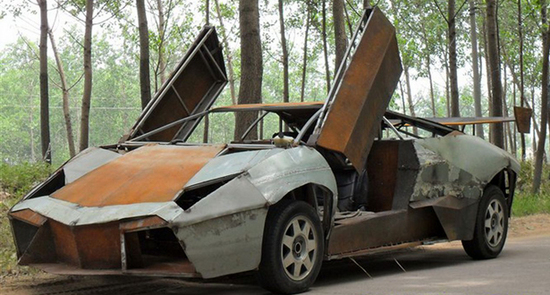 Chinese Mechanic Builds Lamborghini Reventon From Scrap Metal