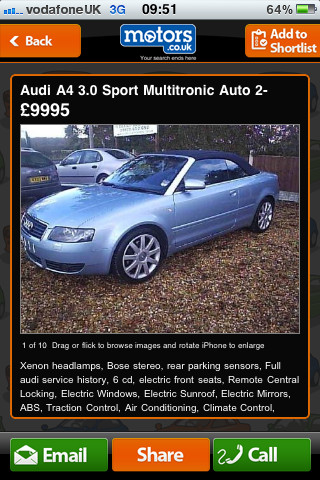Find Cars Effectively With Motors.co.uk App For iPhone, iPad and iPod Touch