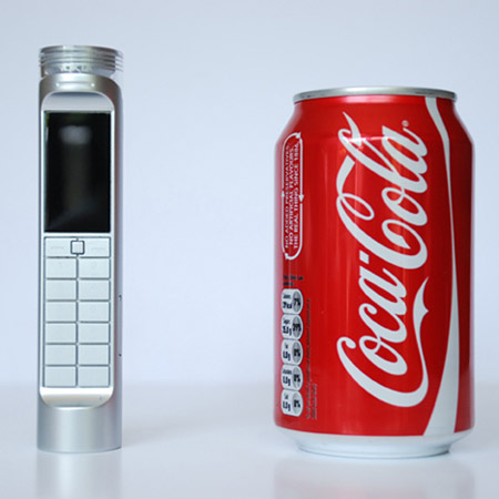 Coke-Powered Cellphone, Coca cola Powered Cellphone, Coca cola mobile phone, Mobile Phone Runs on Coke