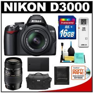 Nikon D3000 with Lens Kit, Nikon D3000