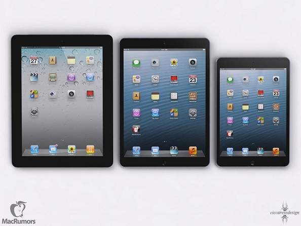ipad 5, Size Comparison Of Upcoming iPad 5 With iPad 4, iPad Mini, iPhone 5, ipad 5, ipad mini, iphone 5, ipad 4, ipad 5 concept