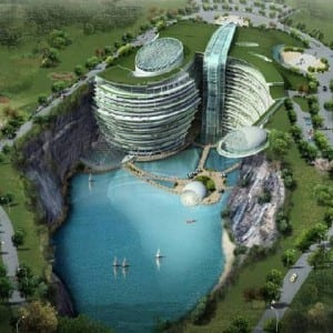 Waterworld, Waterworld hotel