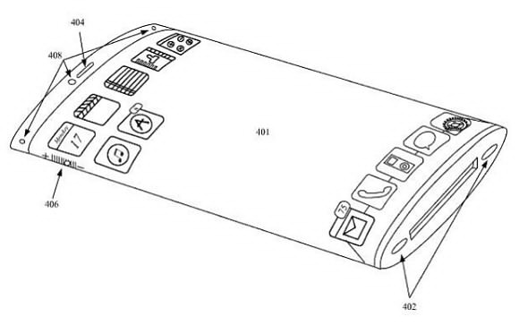 iphone patent, iphone sloped edges patent, iphone sloped edges patent design