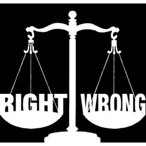 emotion morals, balance, right or wrong
