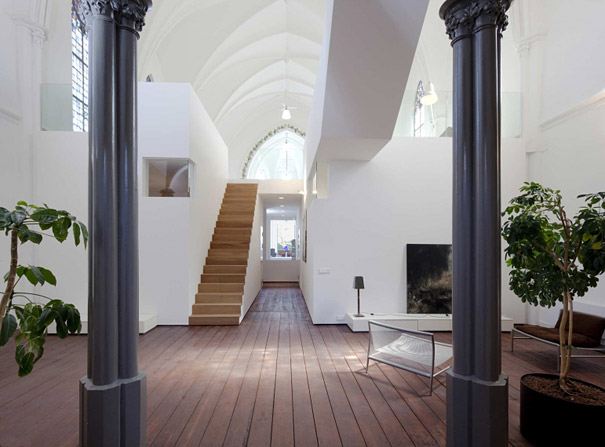 Church Converted Into Modern Family Home in Holland