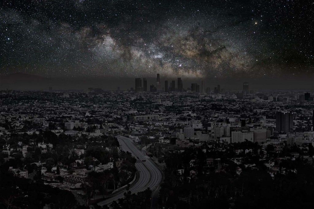 Cities at night, cities, darkened cities, thierry cohen, dark cities, photography, astronomy
