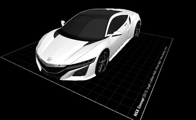 Honda car concept, Honda Acura NSX 3D printed, 3d, 3d printing, honda, acura nsx, 3d printer, nsx concept