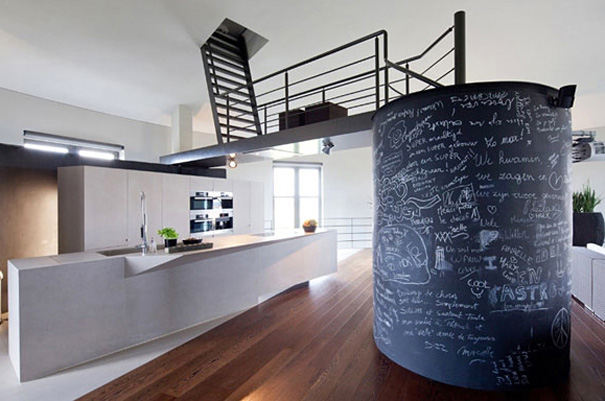Modern home, Belgium, Old Water Tower Turned Into Modern Home