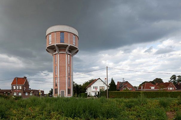 Old Water Tower Turned Into Modern Home, Belgium