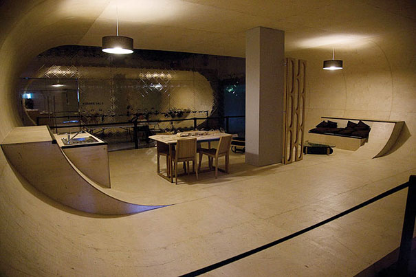 Skateboard House in the USA
