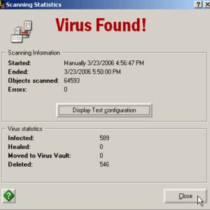 computer virus, virus found