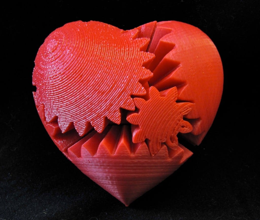 2D Heart, 3D Printing Heart, 3D Printed Heart